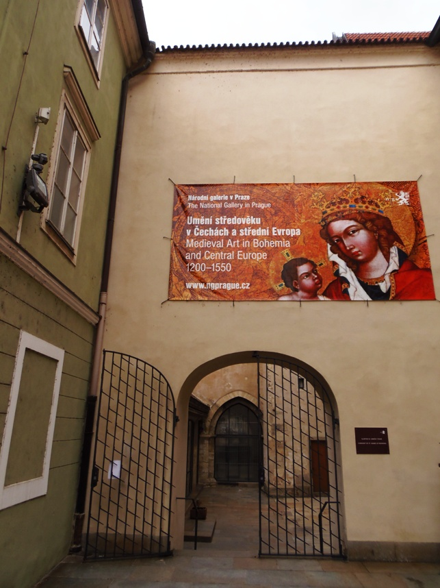 Main entrance to St. Agnes convent, mediaeval art, bohemian art, national gallery in pargue, gallery tour,