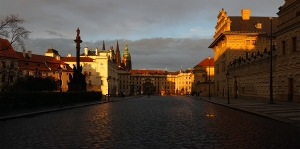 Hradschine Square with Prague Castle in background, personal prague tour guide, guided tours