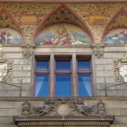 Na Příkopech street, Art Nouveau mosaics