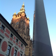 Prague Castle; Obelisk at the third courtyard