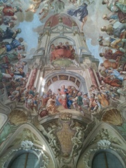 """prague steps, Strahov Monastery; summer refectory with ceiling fresco """"Heavenly Feast of Jesus with Christ as the Host"""", 1731, personal prague tour guide, prague tours"""