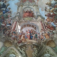 "prague steps, Strahov Monastery; summer refectory with ceiling fresco ""Heavenly Feast of Jesus with Christ as the Host"", 1731, personal prague tour guide, prague tours"