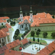 prague steps, personal prague guide, prague tours, walking tours, Model of Strahov Monastery complex (on display in Strahov Monastery)