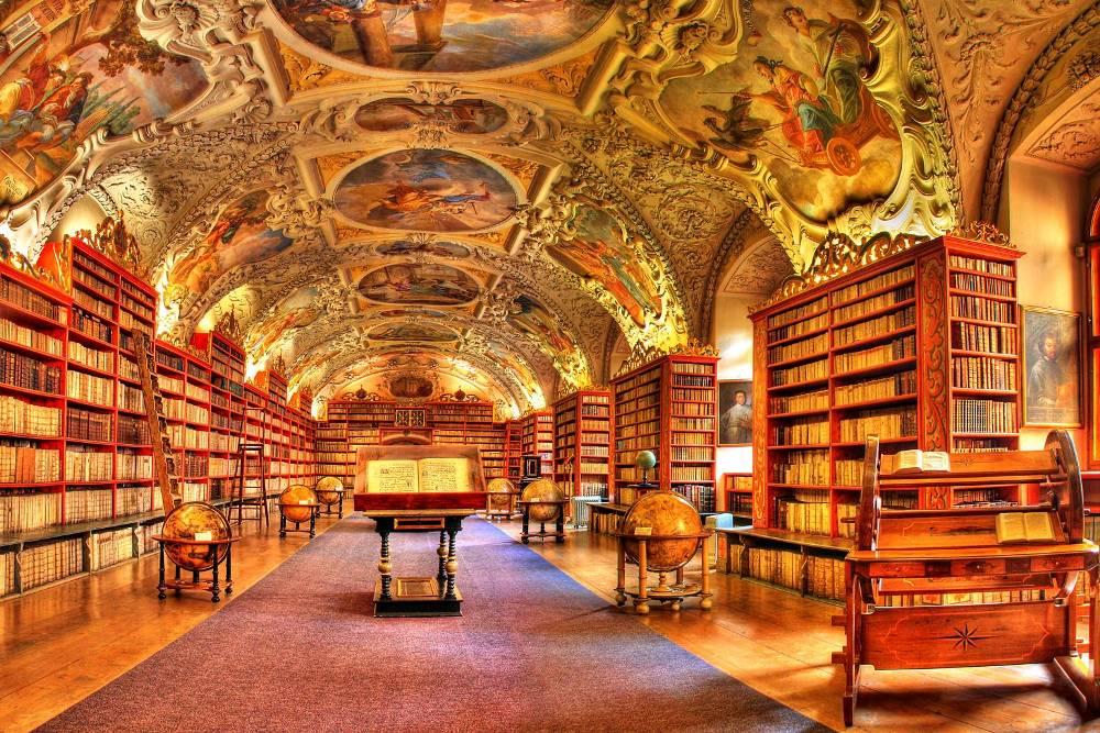 prague steps, Strahov Monastery; Theological Hall , personal prague tour guide, prague tours