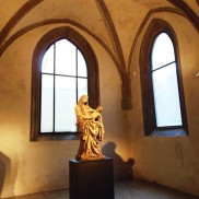 Madonna of Cesky Krumlov, gothic sculpture, national gallery, prague guide, gallery guide, art in Prague,